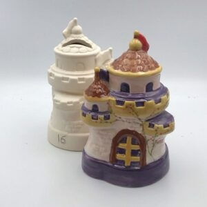 Pottery Painting Castle Money Box