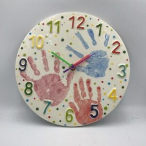 Pottery Painting Clock