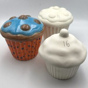 Pottery Painting Cupcake Box