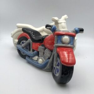 Pottery Painting Motorbike Money Box