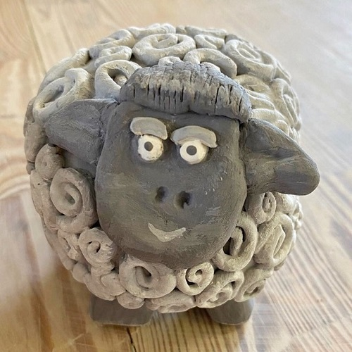 Make a Clay sheep