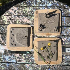 Trio of Tiles take out pottery kit